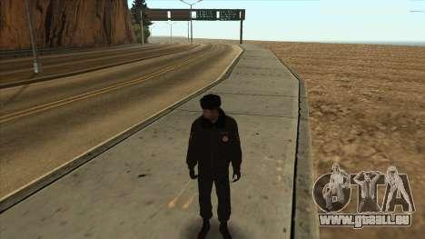 La Police en Russie, l'hiver formulaire pour GTA San Andreas quatrième écran