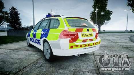 BMW 3 Series Touring E91 [ELS] pour GTA 4 Vue arrière de la gauche