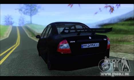 Saipa Tiba Tuning pour GTA San Andreas laissé vue