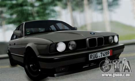 BMW 525 E34 Rims für GTA San Andreas zurück linke Ansicht