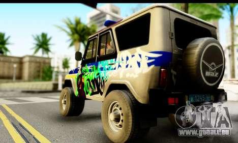 UAZ hunter 315195 für GTA San Andreas linke Ansicht
