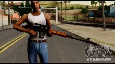 SVD from Metal Gear Solid für GTA San Andreas dritten Screenshot