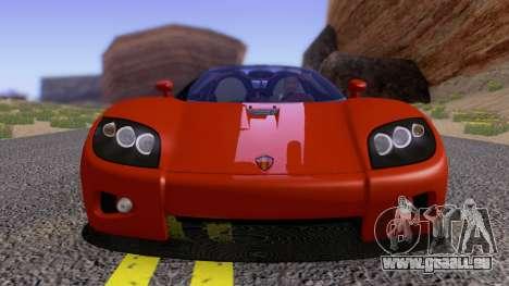 Koenigsegg CCX 2006 Road Version pour GTA San Andreas vue intérieure
