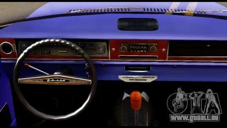 GAZ 24 Wolga Lowrider-La-Fahrer für GTA San Andreas zurück linke Ansicht
