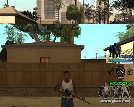 C-HUD Rifa pour GTA San Andreas troisième écran