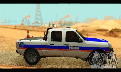 Ford Ranger 2011 Policia Bonaerense pour GTA San Andreas sur la vue arrière gauche