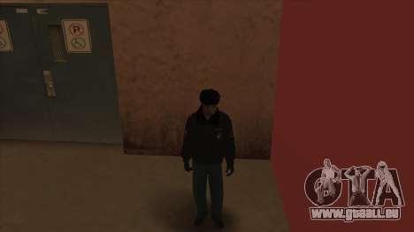 La Police en Russie, l'hiver formulaire pour GTA San Andreas huitième écran