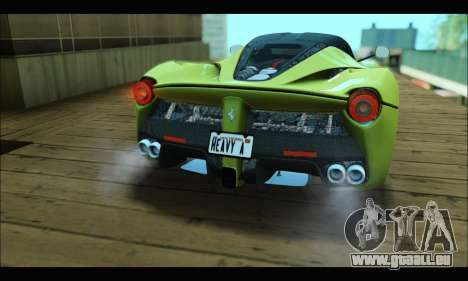 Ferrari LaFerrari 2014 für GTA San Andreas Rückansicht