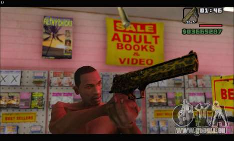 Leopardo Deagle für GTA San Andreas her Screenshot