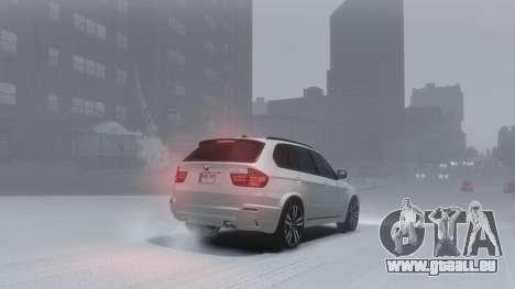 BMW X5M 2011 pour GTA 4 est une vue de l'intérieur