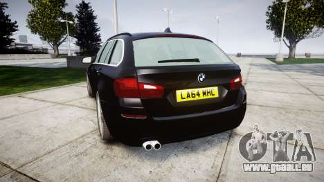 BMW 525d F11 2014 Facelift Civilian für GTA 4 hinten links Ansicht