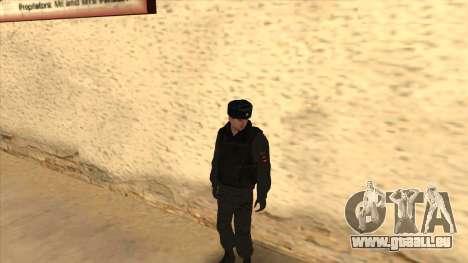 La Police en Russie, l'hiver formulaire pour GTA San Andreas neuvième écran