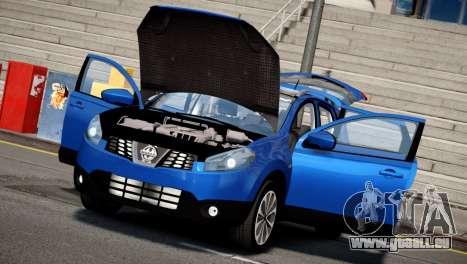 Nissan Qashqai 2011 pour GTA 4 Vue arrière de la gauche