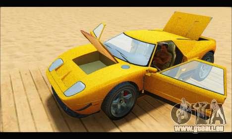 Vapid Bullet Gt (GTA V TBoGT) für GTA San Andreas Innenansicht