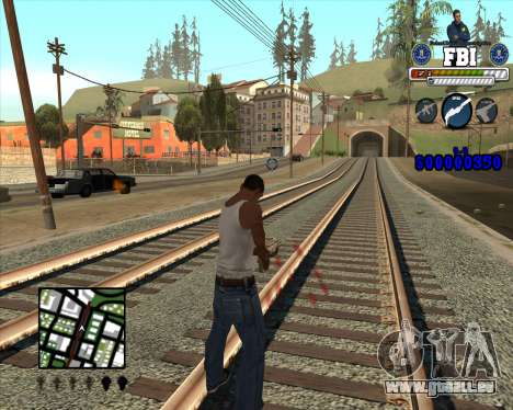 C-HUD for FBI pour GTA San Andreas deuxième écran