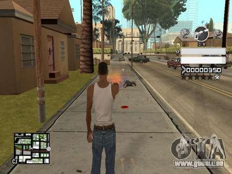 C-HUD Gray pour GTA San Andreas troisième écran