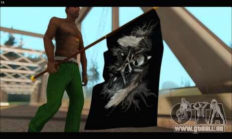 Flag Black Skul für GTA San Andreas dritten Screenshot