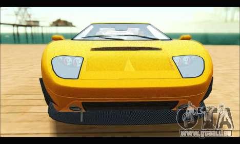 Vapid Bullet Gt (GTA V TBoGT) pour GTA San Andreas sur la vue arrière gauche