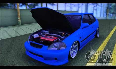 Honda Civic HB (BLG) für GTA San Andreas Rückansicht