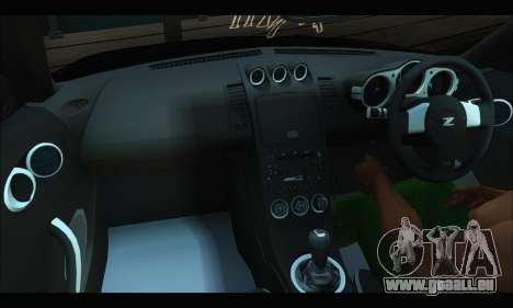 Nissan 350Z Rock pour GTA San Andreas vue de côté