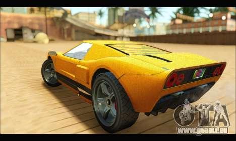 Vapid Bullet Gt (GTA V TBoGT) pour GTA San Andreas vue arrière