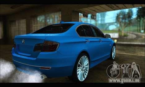 BMW 5 series F10 2014 pour GTA San Andreas laissé vue