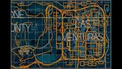 Karte mit den Sektoren im racing-style