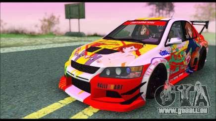 Mitsubishi Lancer Evo IX Hirasawa Yui K-ON Itash pour GTA San Andreas