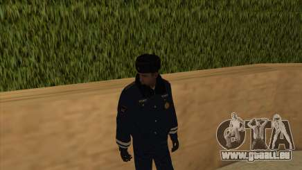 La Police en Russie, l'hiver formulaire pour GTA San Andreas