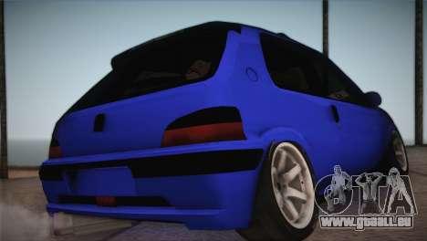 Peugeot 106 GTI F Tuning pour GTA San Andreas laissé vue
