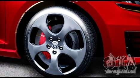 Volkswagen Golf GTI 2015 pour GTA San Andreas vue arrière