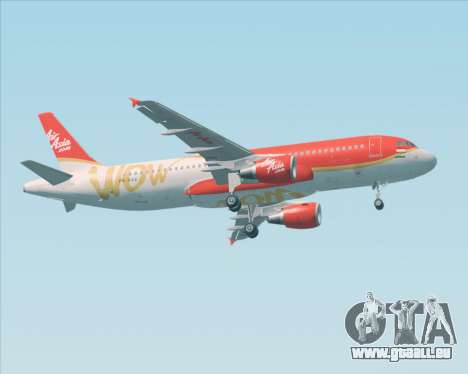 Airbus A320-200 Indonesia AirAsia WOW Livery für GTA San Andreas zurück linke Ansicht