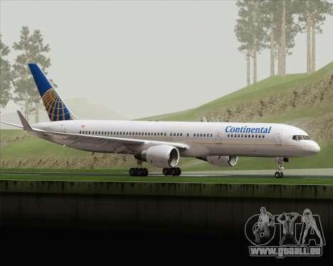 Boeing 757-200 Continental Airlines pour GTA San Andreas laissé vue