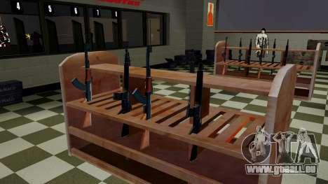 Les modèles 3D des armes dans l'Ammu-nation pour GTA San Andreas deuxième écran