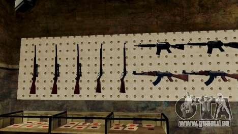 Les modèles 3D des armes dans l'Ammu-nation pour GTA San Andreas huitième écran