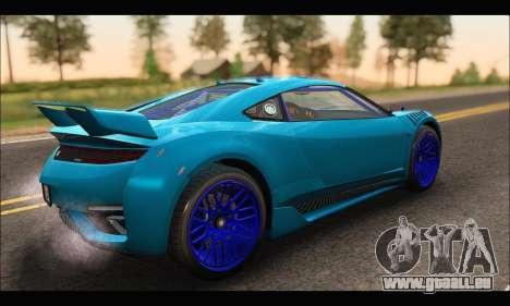 Dinka Jester Racecar (GTA V) (SA Mobile) für GTA San Andreas zurück linke Ansicht
