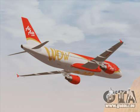 Airbus A320-200 Indonesia AirAsia WOW Livery pour GTA San Andreas moteur