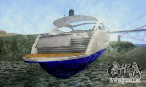 Speed Yacht für GTA San Andreas zurück linke Ansicht