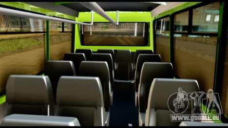 Iveco Minibus pour GTA San Andreas vue intérieure