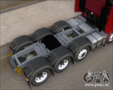 Iveco Stralis HiWay 8x4 für GTA San Andreas obere Ansicht