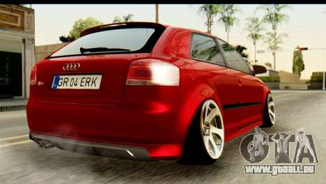 Audi S3 2007 Camber Edit pour GTA San Andreas laissé vue