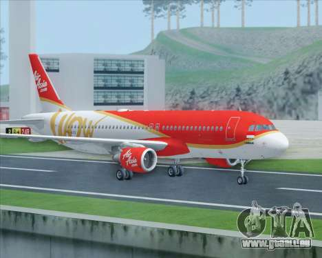 Airbus A320-200 Indonesia AirAsia WOW Livery pour GTA San Andreas vue de droite