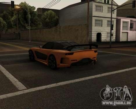 Mazda RX-7 VeilSide Drift pour GTA San Andreas sur la vue arrière gauche