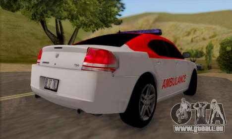 Dodgle Charger Ambulance pour GTA San Andreas vue de droite
