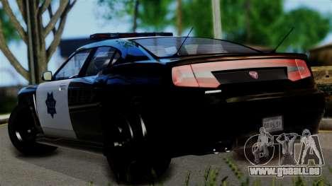 GTA 5 Buffalo S Taxi pour GTA San Andreas laissé vue