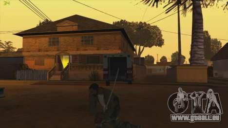 Katana from Killingfloor pour GTA San Andreas troisième écran