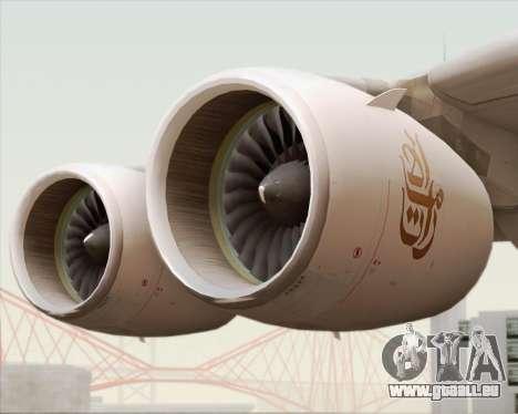 Airbus A380-800 Emirates (A6-EDJ) für GTA San Andreas obere Ansicht