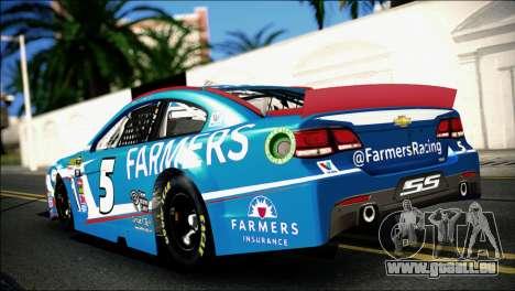 Chevrolet SS NASCAR Sprint Cup Series 2013-2014 pour GTA San Andreas laissé vue