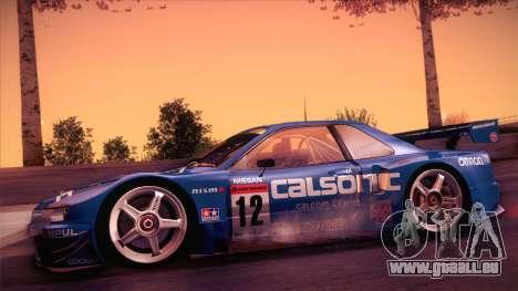 Nissan Skyline GTR-34 2003 pour GTA San Andreas sur la vue arrière gauche