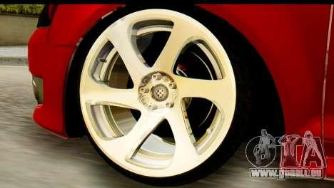 Audi S3 2007 Camber Edit pour GTA San Andreas sur la vue arrière gauche